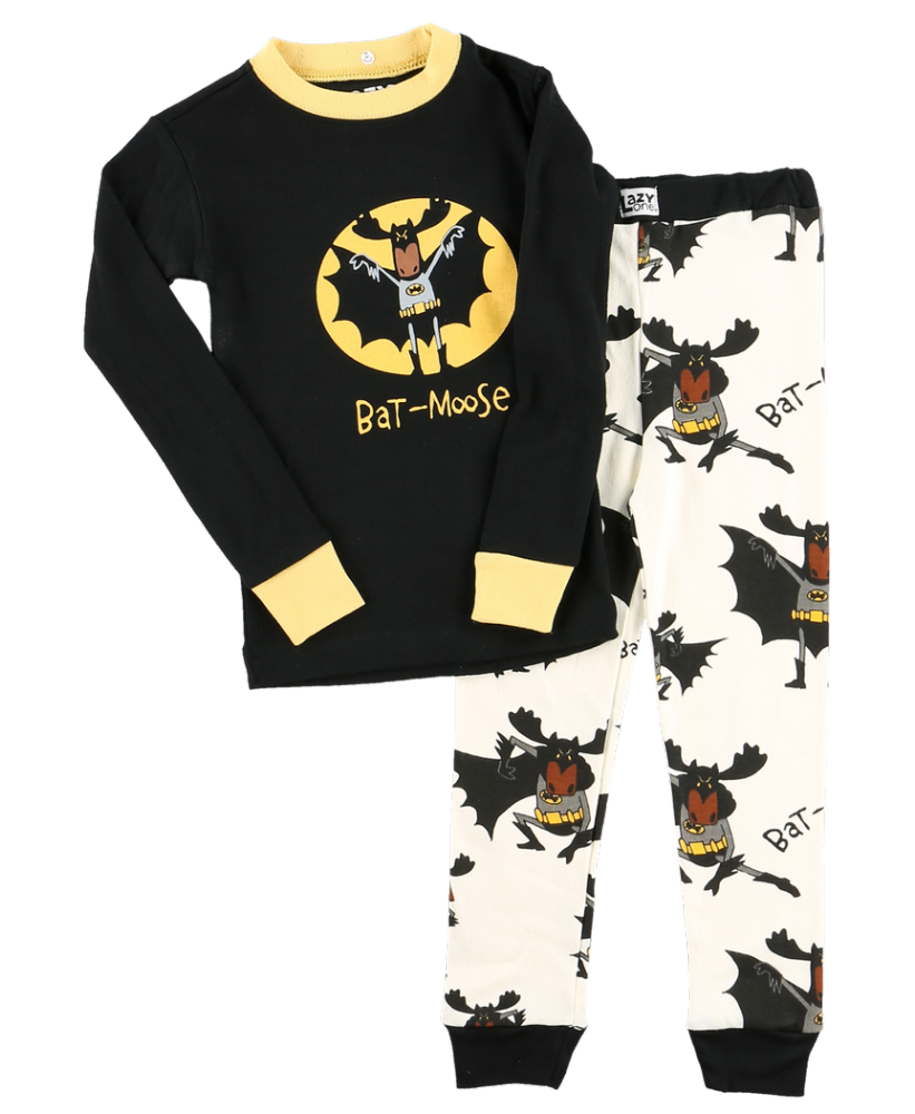 Bat-Moose - Kids Long Sleeve PJ Set - Lazy One®